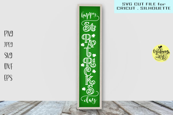 Download Free Happy St Patricks Day Sign Graphic By Midmagart Creative Fabrica for Cricut Explore, Silhouette and other cutting machines.