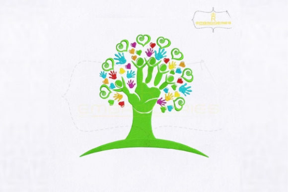 Download Free Helping Hands Tree Creative Fabrica for Cricut Explore, Silhouette and other cutting machines.