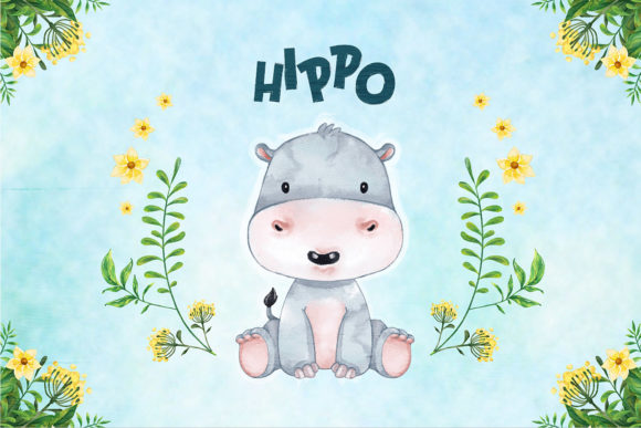 Print on Demand: Hippo Nursery Decor Graphic Illustrations By accaliadigital