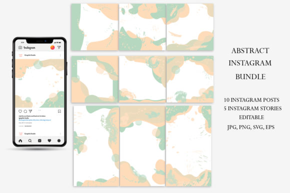 Download Free Instagram Stories Template Abstract Graphic By Igraphic Studio for Cricut Explore, Silhouette and other cutting machines.