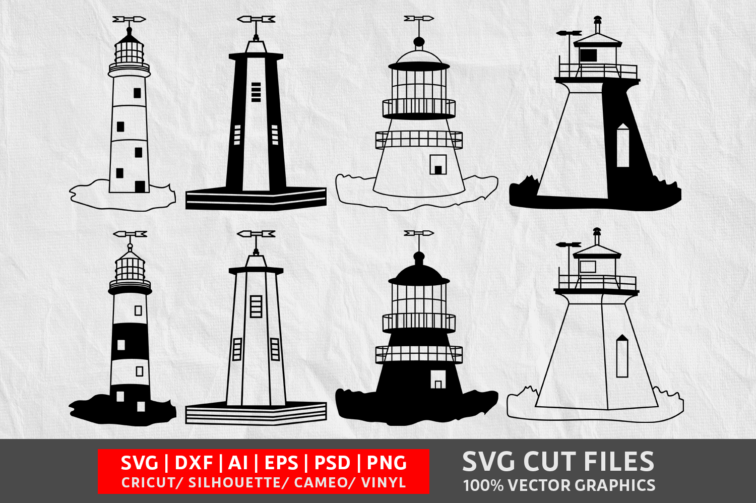 Download Free Light Houses Image Graphic By Design Palace Creative Fabrica for Cricut Explore, Silhouette and other cutting machines.