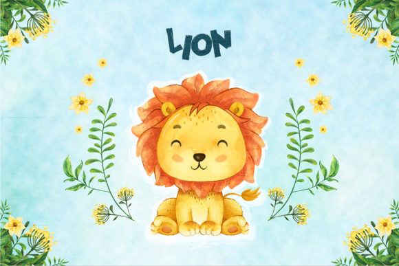 Print on Demand: Lion Nursery Decor Graphic Illustrations By accaliadigital