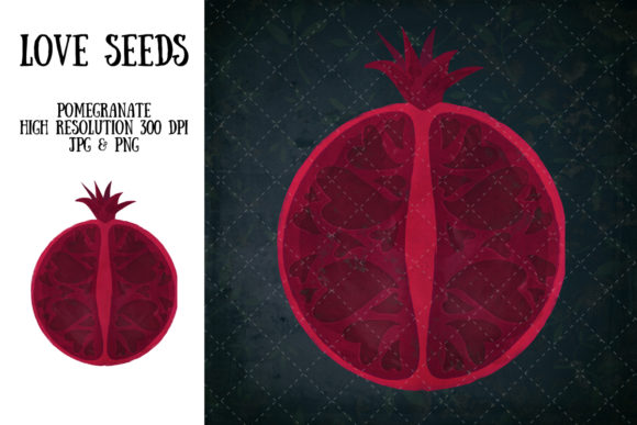 Love Seeds (pomegranate) Graphic Illustrations By My Little Black Heart