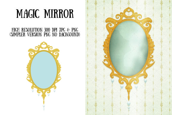 Magic Mirror Graphic Illustrations By My Little Black Heart