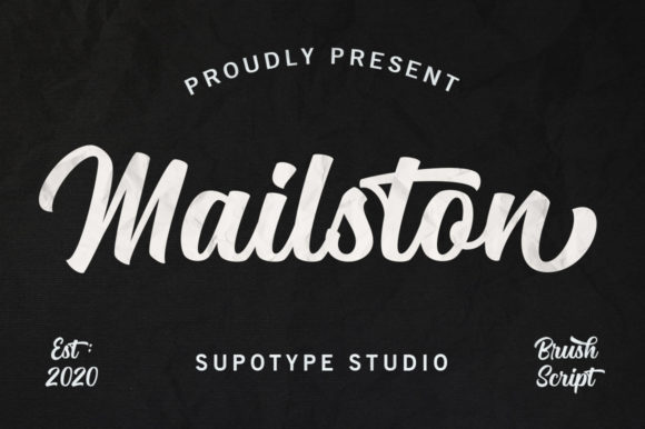 Print on Demand: Mailston Script Script & Handwritten Font By supotype