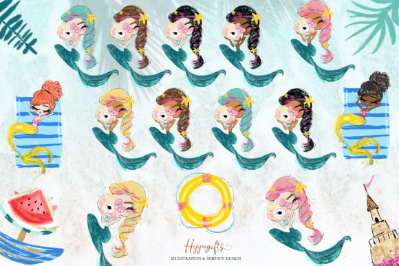 Mermaid Clipart Graphic Illustrations By Hippogifts - Image 2