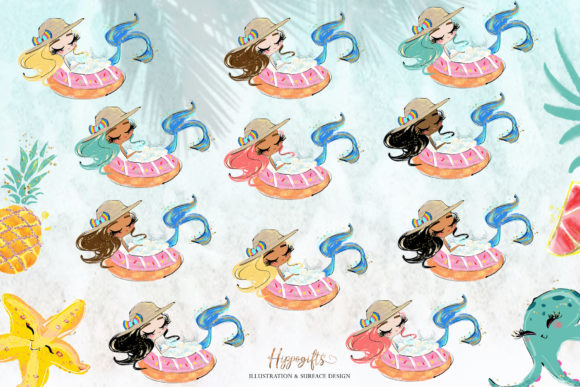 Mermaid Clipart Graphic Illustrations By Hippogifts - Image 3