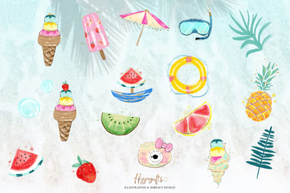Mermaid Clipart Graphic Illustrations By Hippogifts - Image 5