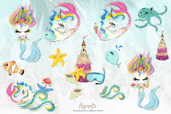 Mermaid Clipart Graphic Illustrations By Hippogifts - Image 6