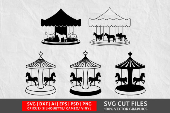 Download Free Merry Go Round Image Graphic By Design Palace Creative Fabrica for Cricut Explore, Silhouette and other cutting machines.