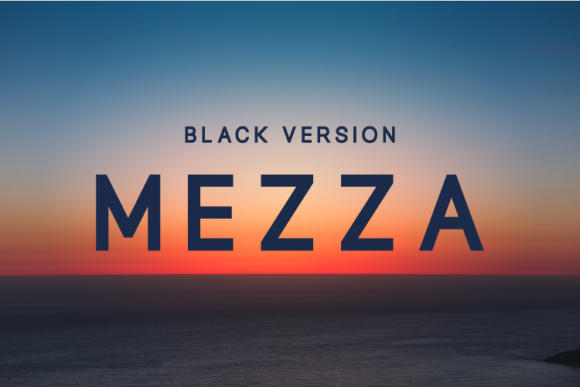 Print on Demand: Mezza Black Sans Serif Font By Huntype