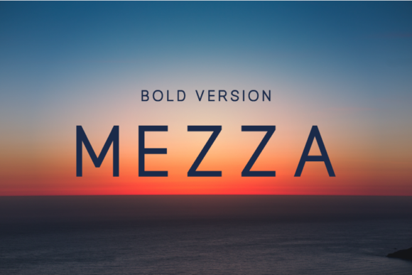 Print on Demand: Mezza Bold Sans Serif Font By Huntype