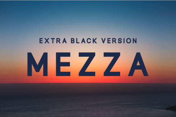 Print on Demand: Mezza Extra Black Sans Serif Font By Huntype