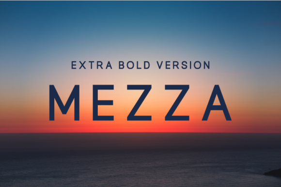 Print on Demand: Mezza Extra Bold Sans Serif Font By Huntype