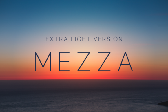 Print on Demand: Mezza Extra Light Sans Serif Font By Huntype