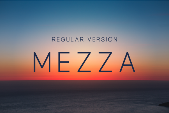 Print on Demand: Mezza Sans Serif Font By Huntype