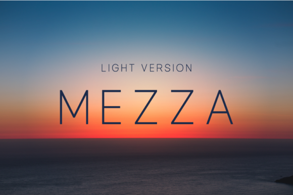 Print on Demand: Mezza Light Sans Serif Font By Huntype
