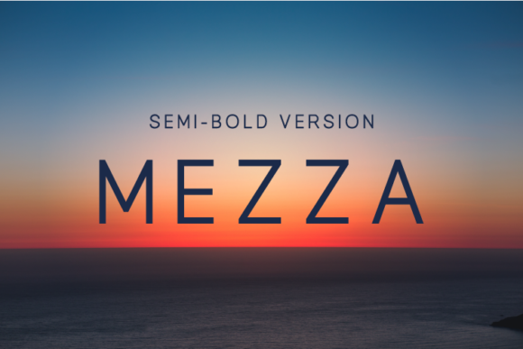 Print on Demand: Mezza Semi Bold Sans Serif Font By Huntype