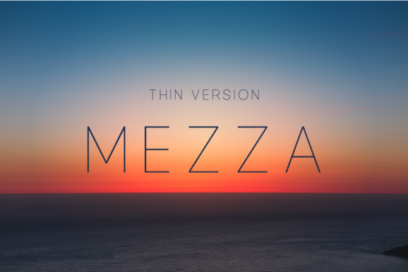 Print on Demand: Mezza Thin Sans Serif Font By Huntype