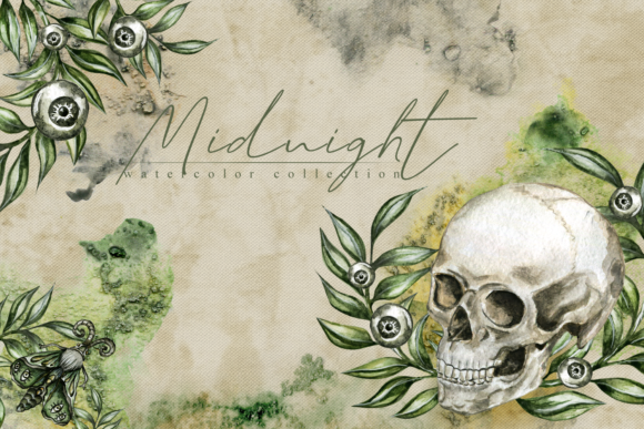 Midnight Watercolor Illustration  Graphic Illustrations By 2SUNS