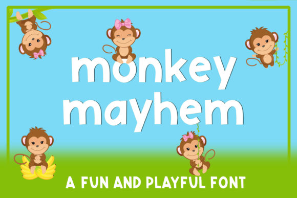 Print on Demand: Monkey Mayhem Sans Serif Font By stacysdigitaldesigns