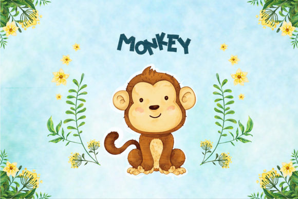 Print on Demand: Monkey Nursery Decor Graphic Illustrations By accaliadigital