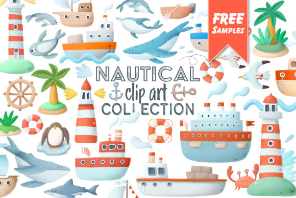 Print on Demand: Nautical Clip Art Graphic Illustrations By Architekt_AT