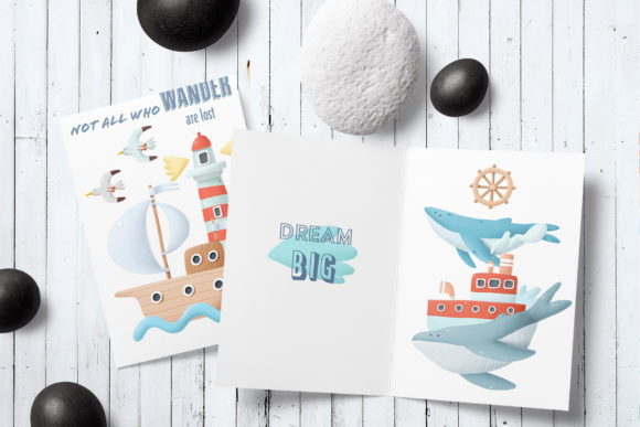 Download Free Nautical Clip Art Graphic By Architekt At Creative Fabrica for Cricut Explore, Silhouette and other cutting machines.