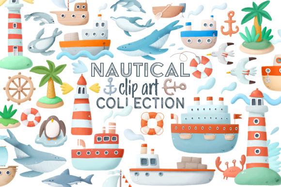 Print on Demand: Nautical Clip Art Graphic Illustrations By Architekt_AT - Image 5