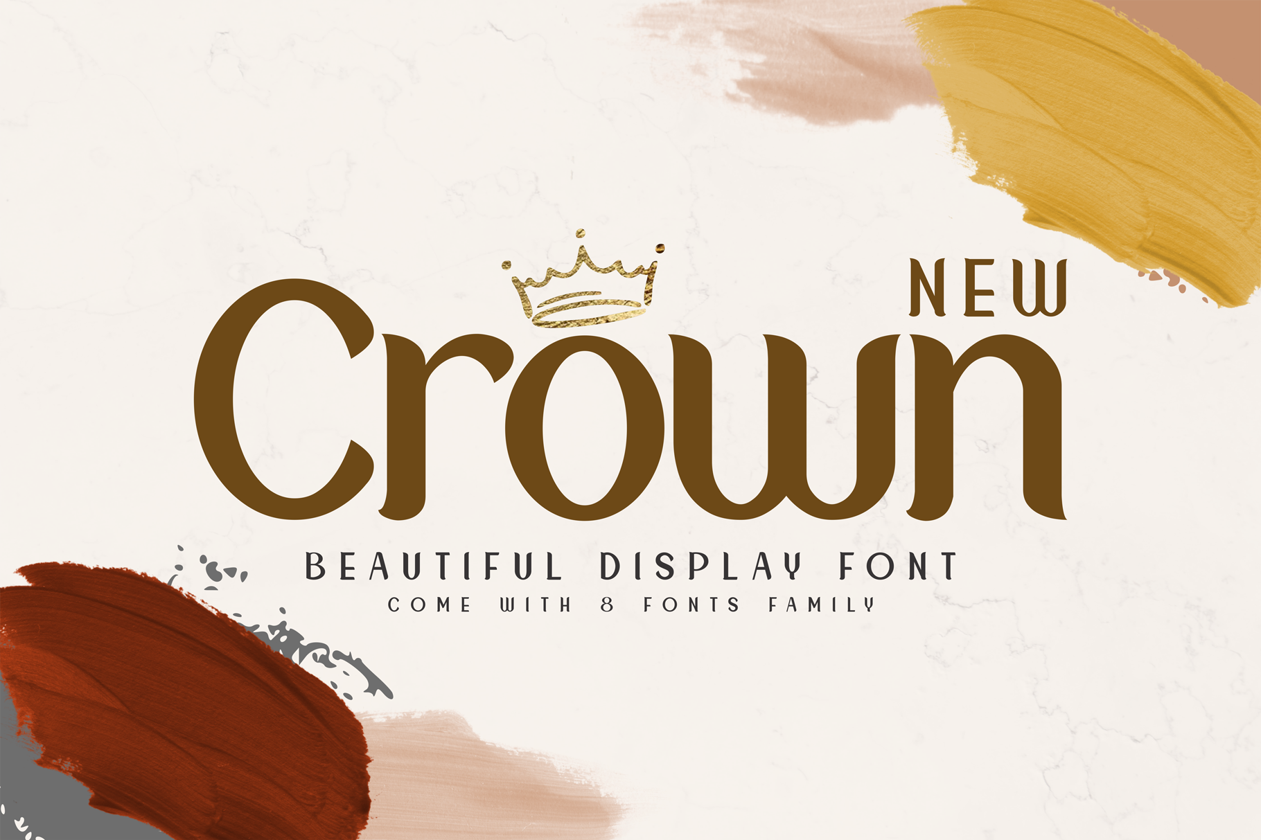 New Crown Font By Omotu Creative Fabrica