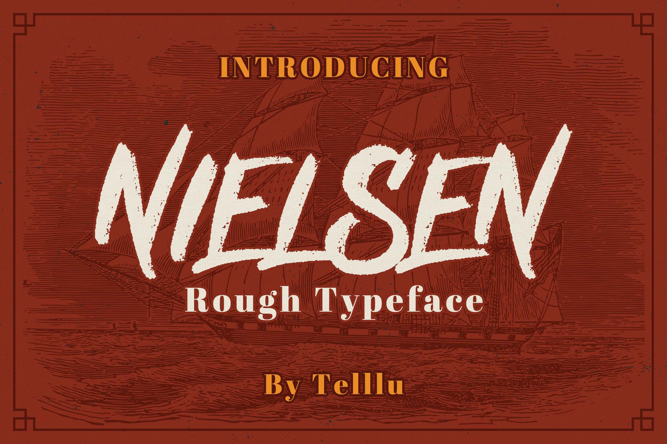 Download Free Nielsen Rough Font By Telllu Creative Fabrica for Cricut Explore, Silhouette and other cutting machines.