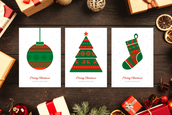 Download Free Norwegian Christmas Greeting Cards Graphic By Barsrsind for Cricut Explore, Silhouette and other cutting machines.