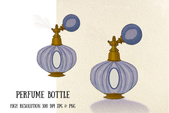 Old Fashioned Perfume Bottle Graphic Illustrations By My Little Black Heart