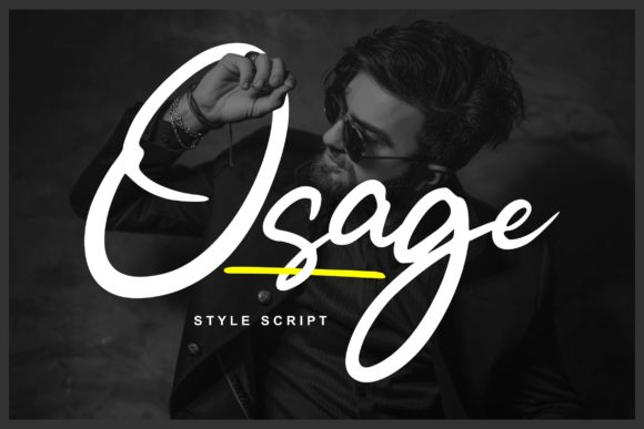 Print on Demand: Osage Script & Handwritten Font By Vunira