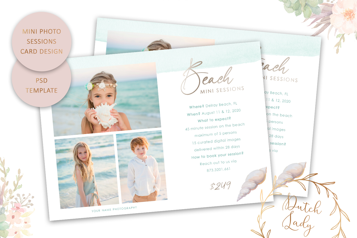 Download Free Psd Photo Session Card Template 62 Graphic By Daphnepopuliers for Cricut Explore, Silhouette and other cutting machines.