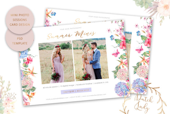 Print on Demand: PSD Photo Session Card Template #63 Graphic Print Templates By daphnepopuliers