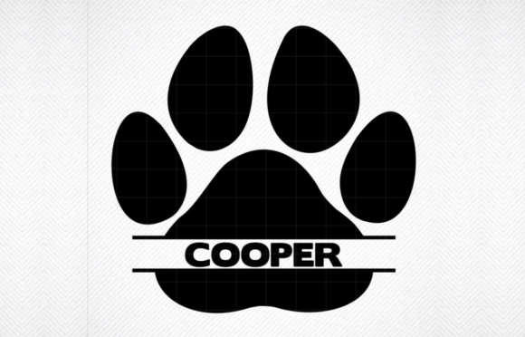 Print on Demand: Paw Print Name Graphic Crafts By SVG DEN