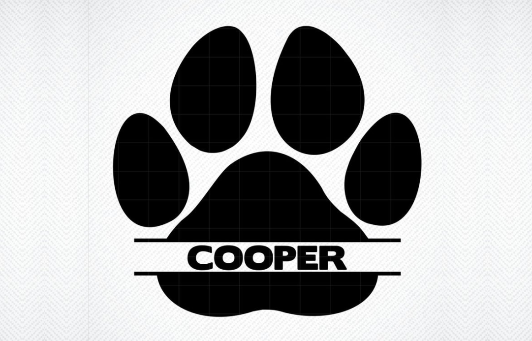 Paw Print Name Graphic By Svg Den Creative Fabrica