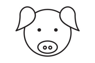 Download Free Pig Head Line Icon Logo Design Graphic By Graphicrun123 Creative Fabrica SVG Cut Files