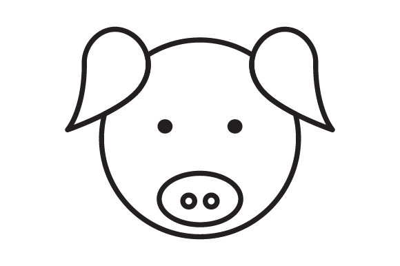 Download Free Pig Head Line Icon Logo Design Graphic By Graphicrun123 for Cricut Explore, Silhouette and other cutting machines.