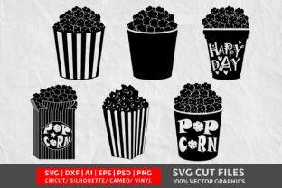 Download Free Popcorn Image Graphic By Design Palace Creative Fabrica for Cricut Explore, Silhouette and other cutting machines.