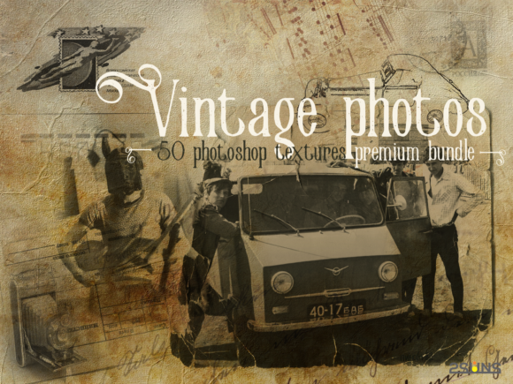 Download Free Premium Bundle Vintage Photoshop Texture Graphic By 2suns for Cricut Explore, Silhouette and other cutting machines.
