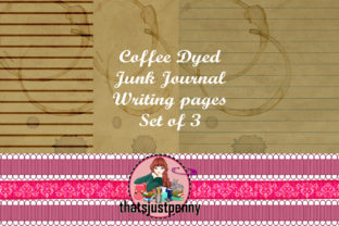 Download Free Printable Coffee Dyed Journal Papers Graphic By Thatsjustpenny for Cricut Explore, Silhouette and other cutting machines.
