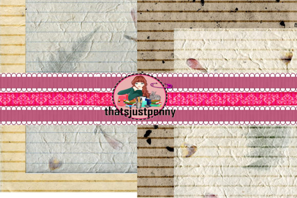 Download Free Printable Handmade Journal Lined Papers Graphic By for Cricut Explore, Silhouette and other cutting machines.