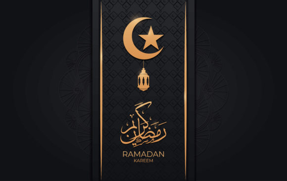 Download Free Ramadan Kareem Greeting Card Design Graphic By Ngabeivector for Cricut Explore, Silhouette and other cutting machines.