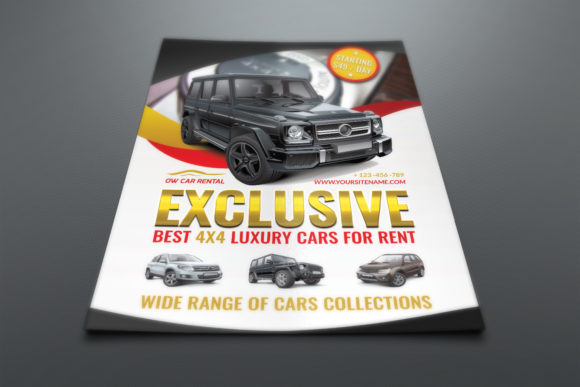 Download Free Rent A Car Flyer Template Graphic By Owpictures Creative Fabrica for Cricut Explore, Silhouette and other cutting machines.