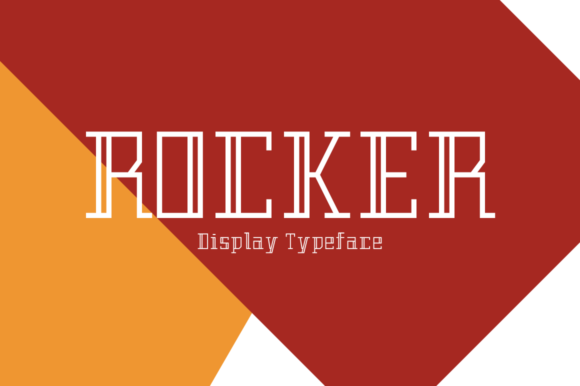 Print on Demand: Rocker Display Font By MSB