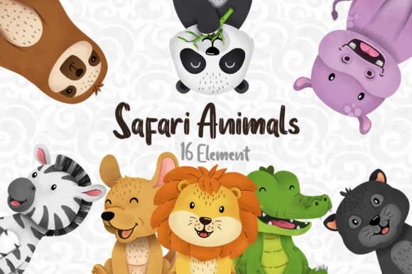 Print on Demand: Safari Animal Clipart Graphic Illustrations By accaliadigital