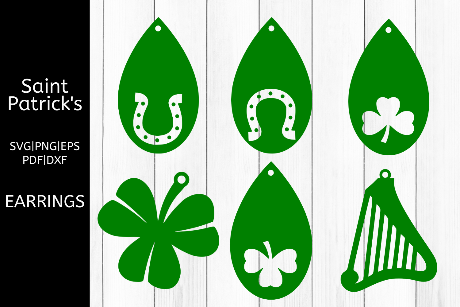 Download Free Saint Patrick S Earrings Files 6 Graphic By Mockup Venue for Cricut Explore, Silhouette and other cutting machines.