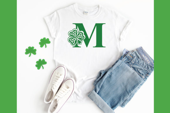 Download Free Shamrock Alphabet Letter A Z Graphic By Oldmarketdesigns for Cricut Explore, Silhouette and other cutting machines.